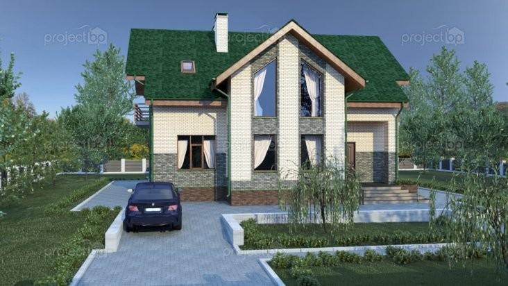 Проект дома с мансардой в современном стиле 226-C